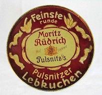 Dosendeckel oder Warenetikette der Fa. Rüdrich. Foto: Privatarchiv numiscontrol.