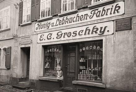 Ehemalige Ansicht vom Geschäft von 1925 Foto: Privatarchiv numiscontrol.