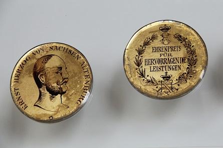 Diese Medaille von 1905 wurde vergeben als Ehrenpreis für hervorragende Leistungen von Ernst Herzog von Sachsen Altenburg. Foto: Privatarchiv numiscontrol.