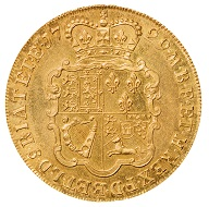George II (1727-1760), London, 1729, Five Guineas, w. 41.8 g, diam. 37 mm.