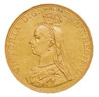 Victoria (1837-1901), London, 1887, Five Pounds, w. 39.9 g, diam. 36 mm.