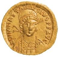 Anastasius I (491-518), Constantinople, 491-498, Solidus, w. 4.45 g, diam. 20 mm.