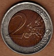 Münze mit Farbauftrag. Wertlos. Foto: © Angela Graff.