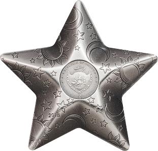 Palau / 5 Dollar / Silber .999 / 1 Unze / 35 mm / Auflage: 2.500 Stück.