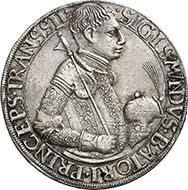 357: SIEBENBÜRGEN. Sigismund Bathory (1581-1602). Reichstaler 1589. Dav. 8800. Resch 35. Sehr selten, vz. Zuschlag: 60.000 Euro.