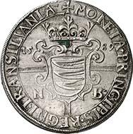 357: TRANSYLVANIA. Sigismund Bathory (1581-1602). Reichsthaler 1589. Dav. 8800. Resch 35. Very rare, EF. Price realized: 60,000 Euros.