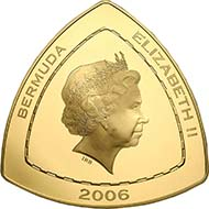 5402: BERMUDAS. Elizabeth II (seit 1952). 600 Dollars 2006, aus der Serie