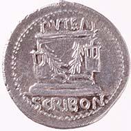 Denarius of L. Scribonius Libo. From Wyprächtiger Collection. MoneyMuseum, Zurich.