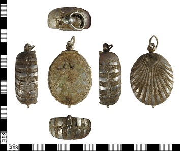 All views of the Post-Medieval silver pocket watch from Buckinghamshire. Courtesy of the Portable Antiquities Scheme.