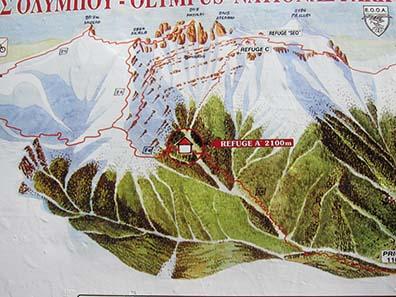 Mount Olympus massif. Photograph: KW.