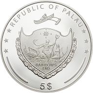 Palau / 5 dollars / .925 silver / 1 oz / 38.61 mm / Mintage: 2019.