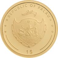 Palau / 1 Dollar / .9999 Gold / 1 g / 13.92 mm / Mintage: 2019.