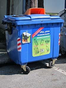 Beginnender Umweltschutz im griechischen Alltag. Foto: KW.