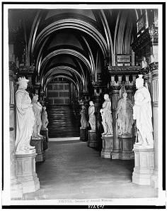 Feldherrnhalle im Heereskundlichen Museum / Wien. Foto von 1860.