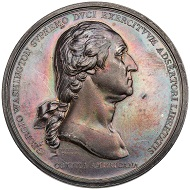 George Washington. Silver Medal. 1776.  68 mm.