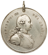 George III. Indian Peace Silver Medal. 79 mm.