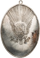 George Washington. Silver Medal. 1793. 175 x 127 mm.