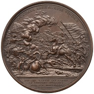 Daniel Morgan/Battle of Cowpens.  Bronze Medal. 1781. 56 mm.