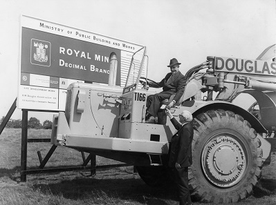 Construction of the new Royal Mint site in Llantrisant began in 1967. Photo: Royal Mint Museum.
