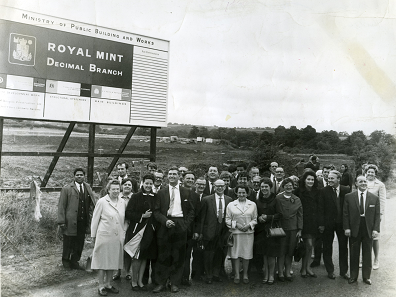 The first buildings of the Royal Mint site in Wales were opened in 1968. Photo: Royal Mint Museum.