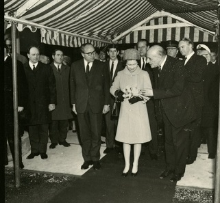 Queen Elizabeth, Prince Philipp, and Prince Charles attended the official opening in December of 1968. Photo: Royal Mint Museum.