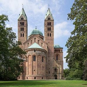 Die Ostfassade des Speyerer Doms. Foto: Roman Eisele / CC BY-SA 4.0.