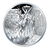 The commemorative silver coin will be issued at a face value of 100 euros and 10 euros.