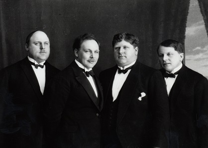 The Knie brothers – Karl, Eugen, Rudolf, and Friedrich - in 1919. © Circus Knie.