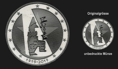 The colorless coin. It will be available as an essay later this year. © Swissmint.
