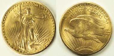 Duplicate of the rare 1933 Double Eagle. Photo: Wikipedia.
