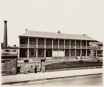 The mint in Sydney. Photo from 1872. State Library of New South Wales, PXD 524.