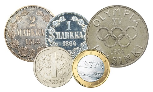 Finnish coinage collection.