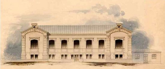 The original premises of the Mint of Finland located at Kanavakatu 4 in Central Helsinki. The building's construction began in 1864 and remained the Mint's headquarters until 1988.