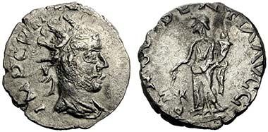 No. 876: ROMAN IMPERIAL TIMES. Regalianus. Antoninian, Carnuntum, 260. Rev. PROVIDENTIA AVGG. RIC V 2, 587, 8. Of utmost rarity. Hammer price: 14,000 Euros.