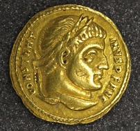 Constantine I, solidus, 312-317, gold, Rome. Photo: The Hunterian.