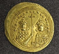 Basil II, histamenon nomisma, 1005-1025, gold, Constantinople. Photo: The Hunterian.