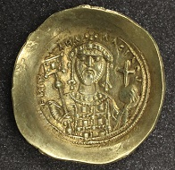Michael VII, histamenon nomisma, 1071-1078, gold, Constantinople. Photo: The Hunterian.