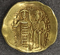 John III, Empire of Nicaea, hyperpyron, 1222-1254, gold, Magnesia. Photo: The Hunterian.