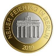 Die neue Gedenkprägung auf den Frauentag als Feiertag aus Feinsilber/Kupfer mit Vergoldung hat einen Durchmesser von 32,5 mm.