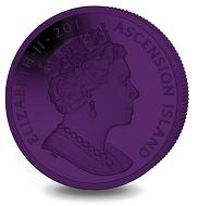 Ascension Island / 1 crown / purple titanium / 28.28 g / 36.1 mm / Mintage: 7,500.