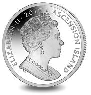 Ascension Island / 1 crown / unc. cupro nickel / 28.28 g / 38.6 mm / Mintage: 10,000.