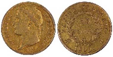 1809-H Napoleon 20 Francs.
