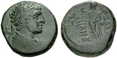 Thessaloniki. Bronze, 187-31. Hermes. Rv. Pan mit Lagobolon. Aus Münzen & Medaillen Deutschland 30 (2009), 184.