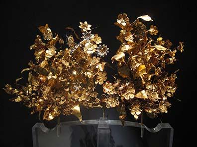 Goldkranz im archäologischen Museum von Thessaloniki. Foto: KW.