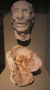 Plaster cast of a deceased's face for the production of a death mask. Photograph: KW.