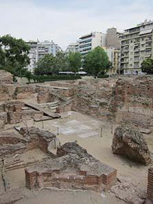 Ein Teil des ausgegrabenen Galeriuspalast. Foto: KW.