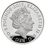 United Kingdom / 5 pounds / silver .925 / 28.28 g / 38.61 mm / Design: Jody Clark (obverse), Glyn Davies (reverse) / Mintage: 3,800.