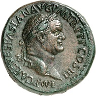Vespasian. Sestertius, 71, Rome. Very rare. Extremely fine. Estimate: 50,000.- euros. From Künker auction 318 (11-12 March, 2019), No. 1093.