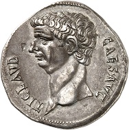 The center of the imperial cult in the province of Asia: the temple for Roma and Augustus in Ephesus. Claudius. Cistophorus, 41/42, Ephesus (Ionia). Rare. Nearly extremely fine. Estimate: 1,500.- euros. From Künker auction 318 (11-12 March, 2019), No. 1036.