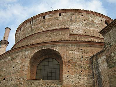 Rotunda of Galerius: an impressive building. Photograph: KW.